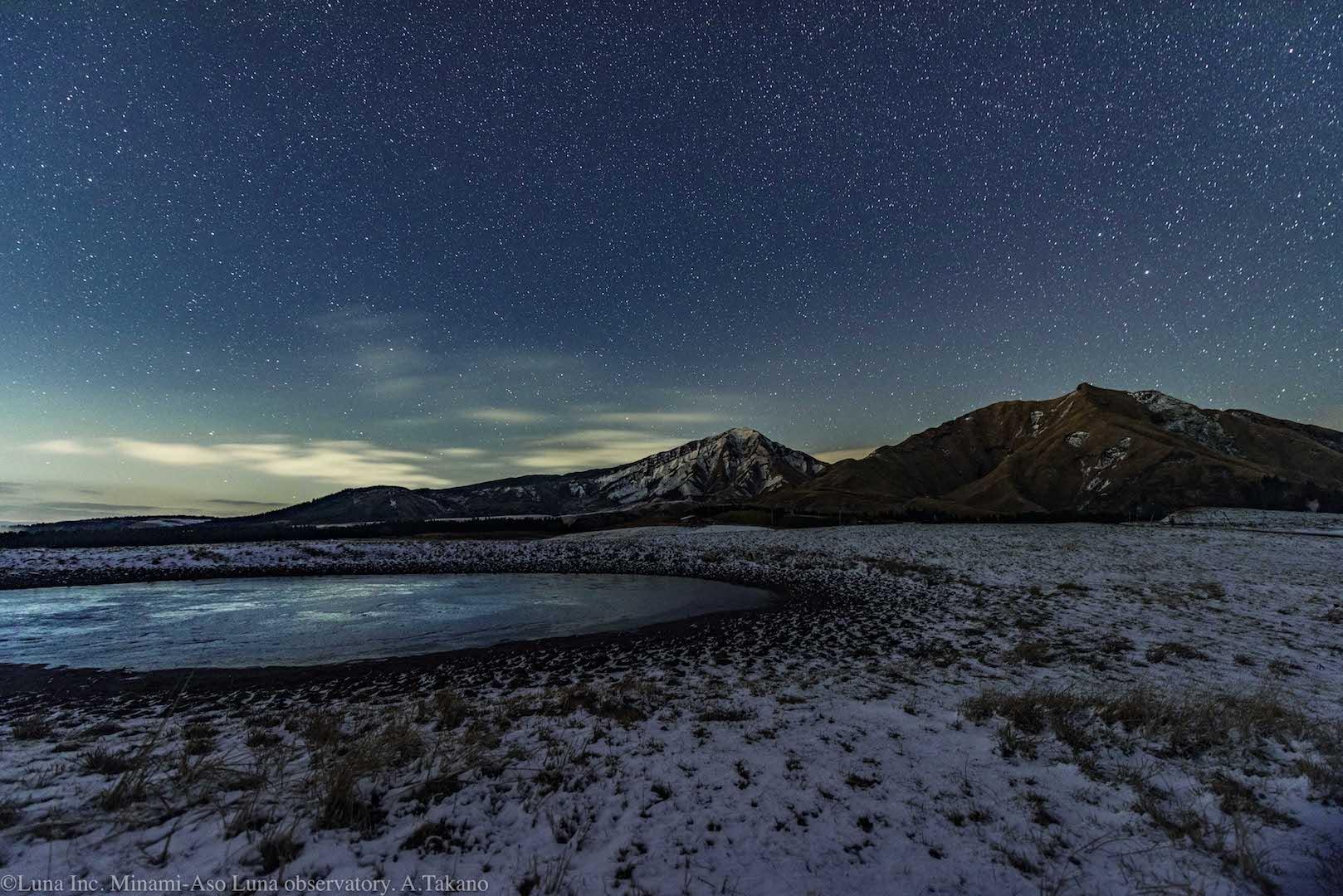 冬のナイトトレッキングで実際に撮影された写真です